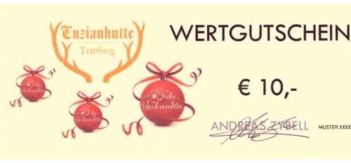 Enzianhütte Gutschein 10 EUR