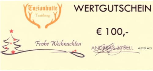 Enzianhütte Gutschein 100 EUR