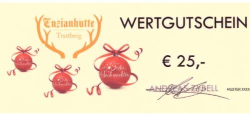 Enzianhütte Gutschein 25 EUR