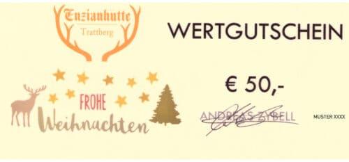 Enzianhütte Gutschein 50 EUR